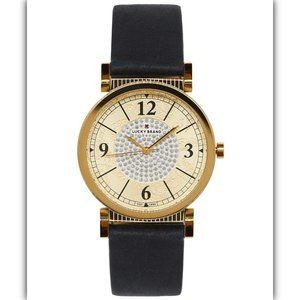 Lucky Brand Carmel Navy Leather Strap Watch 34mm